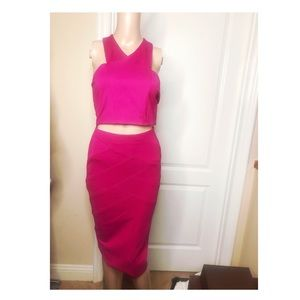 Hot pink two piece stunner